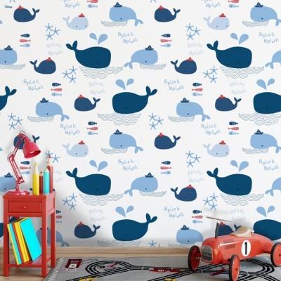 Splish Splash, Mickey Mouse Παιδικά Ταπετσαρίες Τοίχου 100 x 100 cm