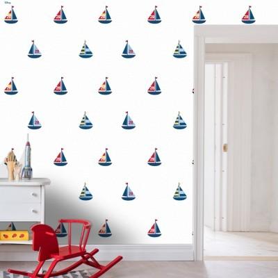 Καραβάκια, Mickey Mouse! Παιδικά Ταπετσαρίες Τοίχου 100 x 100 cm