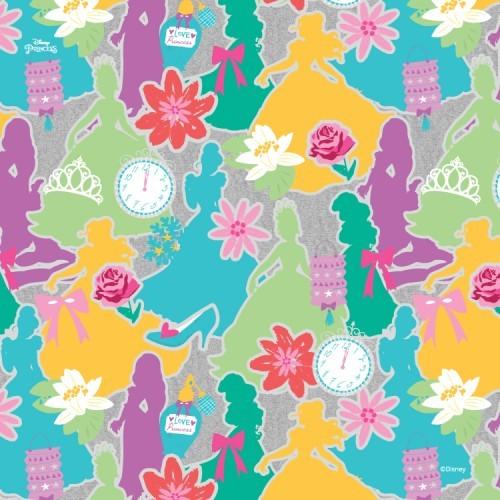 3a50880f44c Πολύχρωμο μοτίβο με πριγκίπισσες, Princess - Ταπετσαρίες Τοίχου - Disney. «