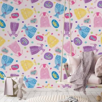 Clothes , Princess Παιδικά Ταπετσαρίες Τοίχου 100 x 100 εκ.