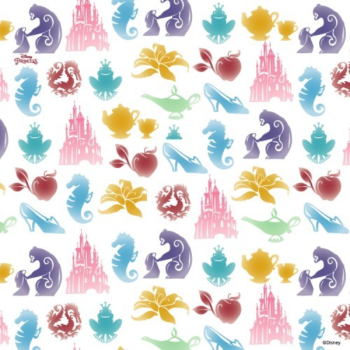 3b7cd42c563 Πολύχρωμο μοτίβο, Princess! - Ταπετσαρίες Τοίχου - Disney