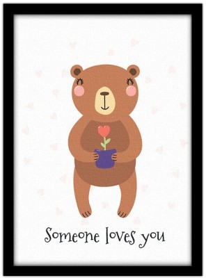 Someone loves you Παιδικά Πίνακες σε καμβά 20 x 30 εκ.