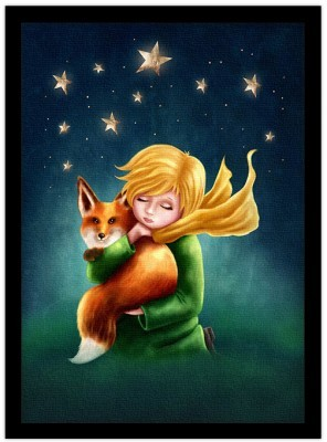 Ο μικρός πρίγκιπας και η αλεπού Παιδικά Πίνακες σε καμβά 20 x 30 εκ.