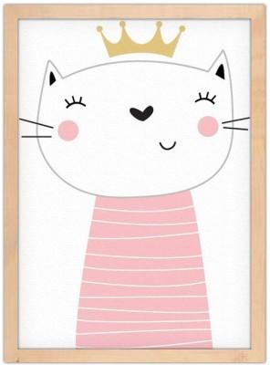 Γατούλα πριγκίπισσα Παιδικά Πίνακες σε καμβά 20 x 30 εκ.