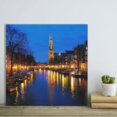 Prinsengracht κανάλι στο Άμστερνταμ Πόλεις - Ταξίδια Πίνακες σε καμβά 50 x 50 cm