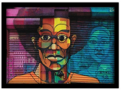 Αφρικανός άντρας, Street art, Πίνακες σε καμβά