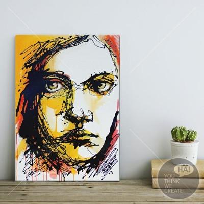 Πορτρέτο όμορφου κοριτσιού, Ζωγραφική, Πίνακες σε καμβά