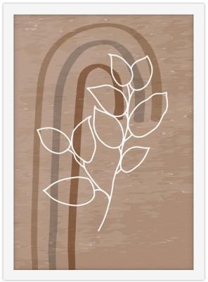 Καφέ σύνθεση Line Art Πίνακες σε καμβά 20 x 30 εκ.