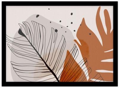 Minimal leaf branch Line Art Πίνακες σε καμβά 30 x 20 εκ.