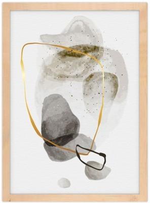 Grey painting touches Line Art Πίνακες σε καμβά 20 x 30 εκ.