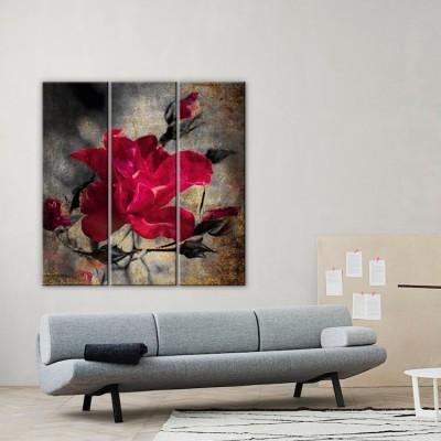 Λουλούδι Vintage Multipanel 100x100 cm