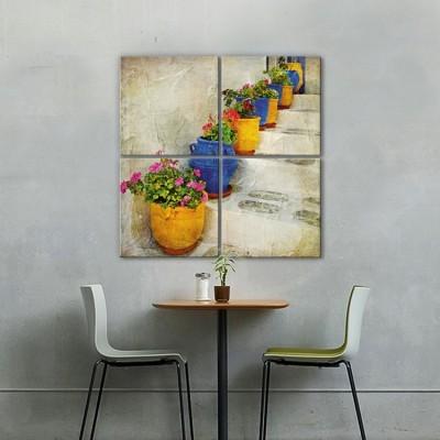 Γλάστρες με γεράνια, Ελλάδα, Multipanel