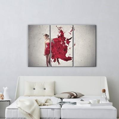 Γυναίκα με κόκκινο φόρεμα, Άνθρωποι, Multipanel