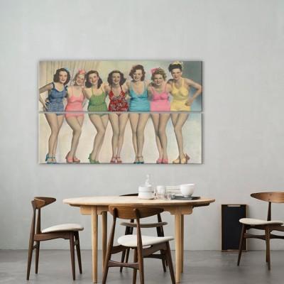 Ρετρό κορίτσια, Άνθρωποι, Multipanel