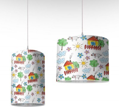 Ζωγραφιά σπιτάκι, Παιδικά, Φωτιστικά οροφής