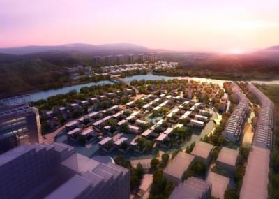 3d απεικόνιση μιας πόλης