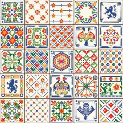 Indigo Blue Tiles, Μοτίβα, Image Gallery