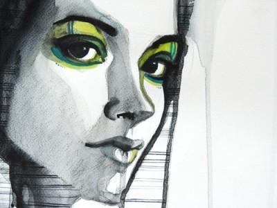 Εικονογραφημένο πορτρέτο κοπέλας, Ζωγραφική, Image Gallery