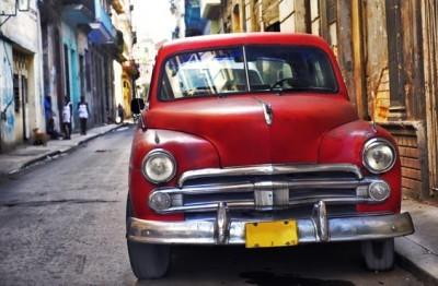 Αυτοκίνητο  στην  Αβάνας, Vintage, Ταπετσαρίες Τοίχου