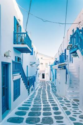 Σοκάκι στο νησί της Μυκόνου, Ελλάδα, Image Gallery