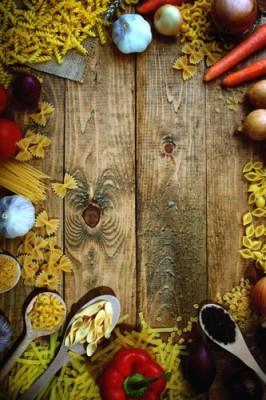 Ζυμαρικά και λαχανικά, Φαγητό, Ταπετσαρίες Τοίχου