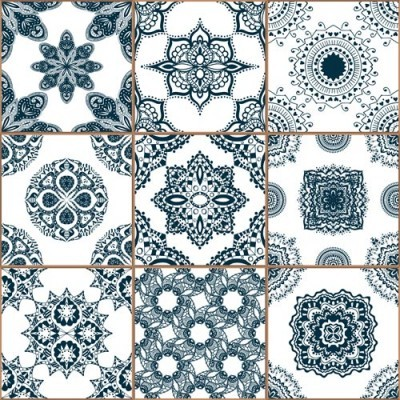 Μπλε κεραμικά πλακίδια, Φόντο - Τοίχοι, Image Gallery