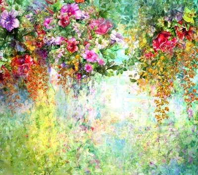 Πολύχρωμα λουλούδια της άνοιξης