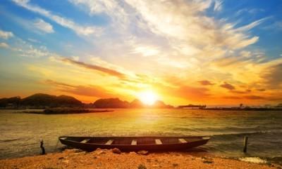 Βάρκες στη λίμνη, Φύση, Ταπετσαρίες Τοίχου