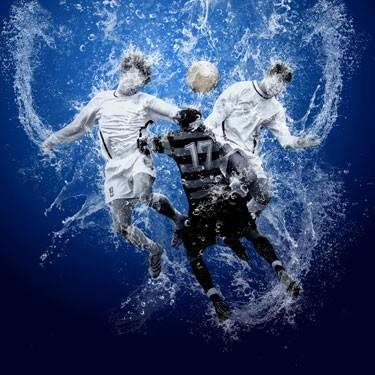 Ποδοσφαιριστές στο νερό, Σπορ, Ταπετσαρίες Τοίχου