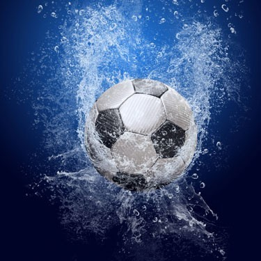 Νερό σε μπάλα ποδοσφαίρου, Σπορ, Ταπετσαρίες Τοίχου
