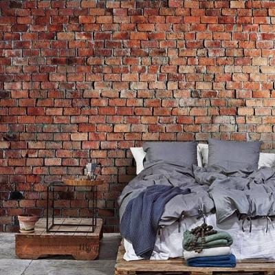 Vintage Brick Φόντο - Τοίχοι Ταπετσαρίες Τοίχου 100 x 100 εκ.