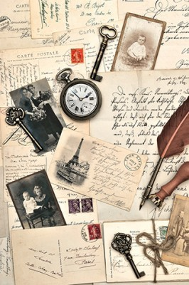 Παλιές καρτ-ποστάλ, Vintage, Ταπετσαρίες Τοίχου