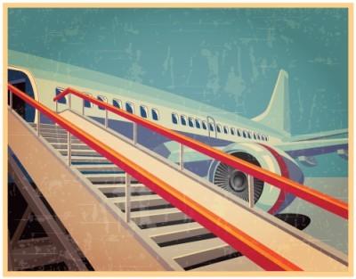 Αεροπλάνο, Vintage, Ταπετσαρίες Τοίχου