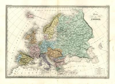 Παλιός χάρτης της Ευρώπης