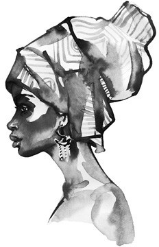 African Woman Drawing, Ζωγραφική, Image Gallery