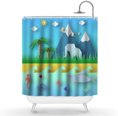 Ζώα Του Κόσμου Παιδικά Κουρτίνες μπάνιου 150 x 180 εκ.