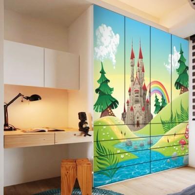 Παραμυθένιο τοπίο Παιδικά Αυτοκόλλητα ντουλάπας 100 x 100 εκ.