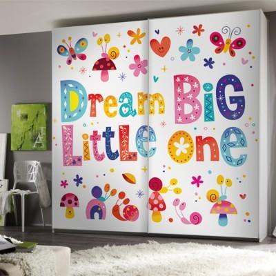 Dream Big, Παιδικά, Αυτοκόλλητα ντουλάπας