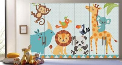 Ζώα Της Ζούγκλας, Παιδικά, Αυτοκόλλητα ντουλάπας