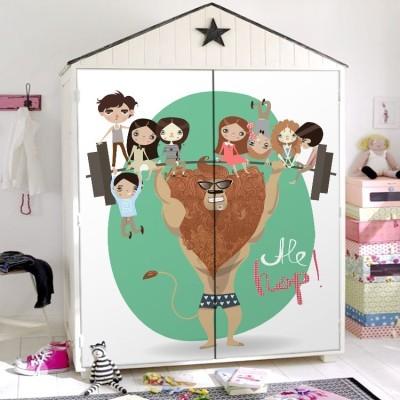 Happy Circus, Παιδικά, Αυτοκόλλητα ντουλάπας