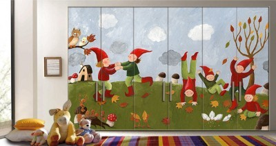 225012fd611 Χαριτωμένα παιδιά Παιδικά Αυτοκόλλητα ντουλάπας 65 x 185 cm (7803 ...