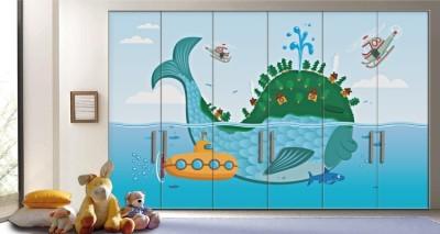 Φάλαινα, Παιδικά, Αυτοκόλλητα ντουλάπας