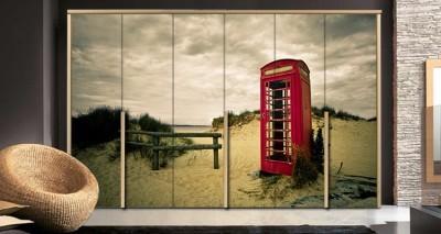 Τηλεφωνικός Θάλαμος, Πόλεις - Ταξίδια, Αυτοκόλλητα ντουλάπας