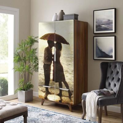 Φιλί κάτω από την ομπρέλα, Vintage, Αυτοκόλλητα ντουλάπας