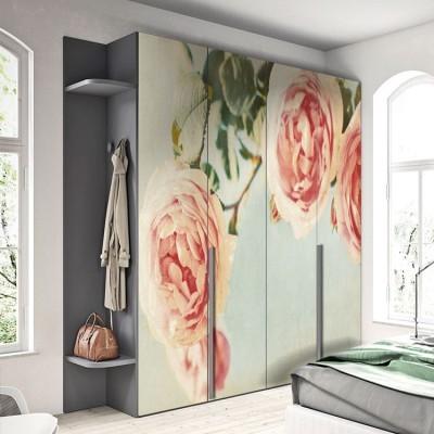 Τριαντάφυλλα, Vintage, Αυτοκόλλητα ντουλάπας