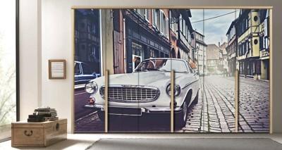 Ρετρό Αυτοκίνητο, Vintage, Αυτοκόλλητα ντουλάπας