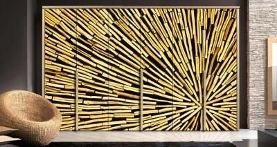Ξύλινο φόντο, Φόντο - Τοίχοι, Αυτοκόλλητα ντουλάπας
