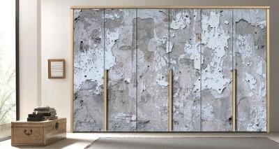 Παλιός ραγισμένος τοίχος, Φόντο - Τοίχοι, Αυτοκόλλητα ντουλάπας