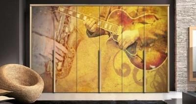 Μουσικά όργανα Διάφορα Αυτοκόλλητα ντουλάπας 65 x 185 cm