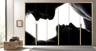 Ασπρόμαυρη φωτογραφία ζευγαριού, Διάφορα, Αυτοκόλλητα ντουλάπας